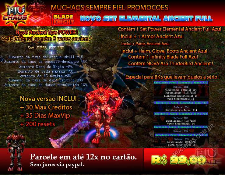 Kit Power Elemental Ancient Azul (PROMO)