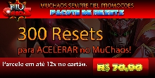 Pacote Acelera +300 Resets